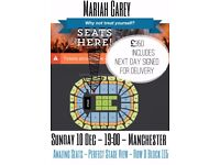 2x Mariah Carey Tickets - All I want for Christmas Tour - Manchester - 10th Dec - AMAZING SEATS!