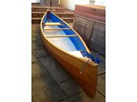 Wooden Canoe - Selway Fisher Prospector 16ft, superb condition incl paddles