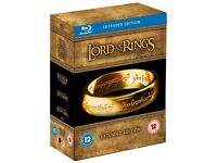New and sealed The Lord of the Rings 15 Discs All 3 Movies Extended Edition Blu Ray Box Set Bluray