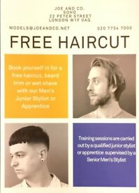 Free male haircut soho