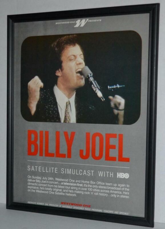 BILLY JOEL 1982 RARE SATELLITE SIMULCAST CONCERT PROMOTIONAL FRAMED POSTER / AD