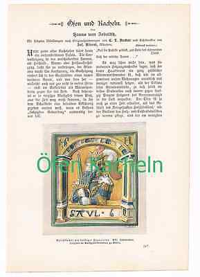 241 Zobeltitz Öfen und Kacheln Artikel mit Bildern von 1896 !!