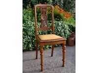 Antique Restored Oak Chair with carvings