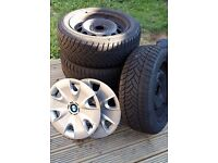 BMW Winter Tyres on Steel Rims - with Dunlop Winter Sport M3 - 205/55 R16 91H Tyres - Bargain £135
