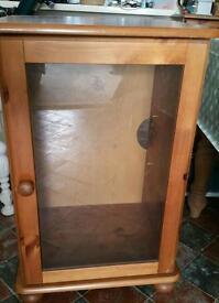 Pine wooden cupboard.