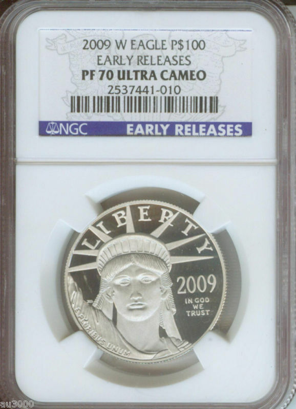 2009-W $100 PLATINUM STATUE  LIBERTY 1 Oz. NGC PF70 PROOF PR70 EARLY RELEASES ER