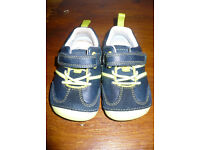 Bundle of 4 Clarks Boy's First Shoes & Slippers size 4.5G/ 4.5 G (4 and 1/2 G). Very good condition