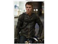 FLYNN in TRON.Sc Fi Movie...Leather Jacket.RIVER ISLAND.Urban street wear or Motorbike/Scooter.