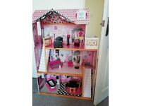 3 story KidsKraft dolls house for Barbie sized dolls