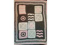 Handmade crochet blanket and beanie