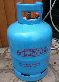 Empty budget gas butane bottle