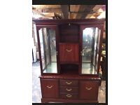 """4ft 7"""" Display/Drinks Cabinet made by John E Coyle"""