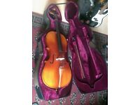 Deluxe Antique Fade 4/4 Cello with bow and Case for sale