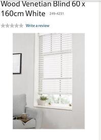 Two Brand new wooden Venetian blinds 35mm slats