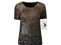 JOANNA HOPE OMBRE SEQUIN TOP size 12