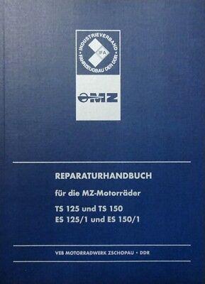 DDR IFA BLAU Reparaturhandbuch für die MZ-Motorräder TS 125 150, ES 125/1  150/1
