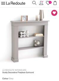 Grey Decorative Fireplace - new in box