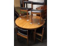 McIntosh 60's Solid Teak Retro Dining Table and 6 Chairs