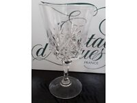 Wine Glasses by Cristal d'Arques Beaugency style boxed set of 6