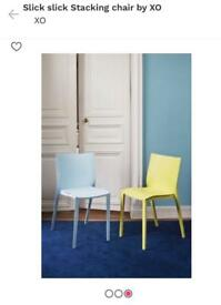 Six set - XO Slick Slick Stackable Chair by philippe Starck