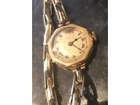 Rare Rotherham and sons lady's 18ct gold watch