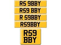 AUDI RS9 R59 BBY R5 9BBY R9 59BBY Robby Abby cherished registration number plate