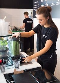 Bar Staff for Leading Health Cafe in Canary Wharf: Supernatural Juice and Smoothie Bars