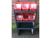 Van Racking / Shelving - MODUL - 3 Shelf Unit - 6 Storage Boxes - Good Condition - Tool Station