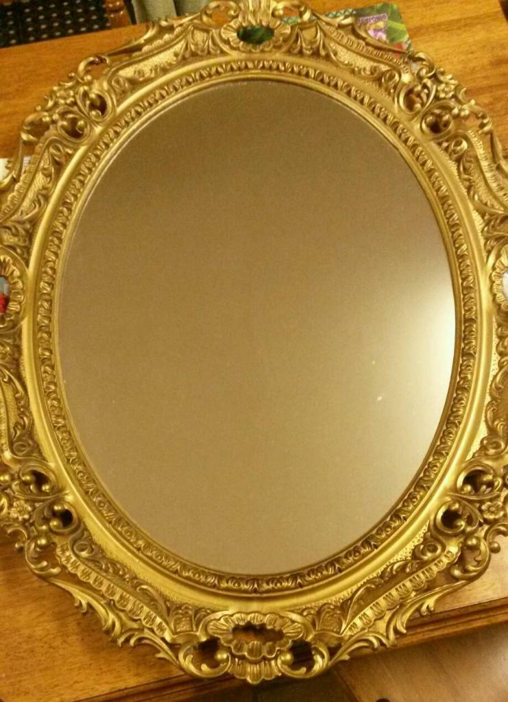 Gorgeous gold framed vintage antique style large ornate for Old style mirror
