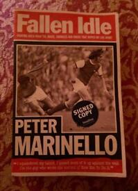 Peter marinello arsenal football signed book
