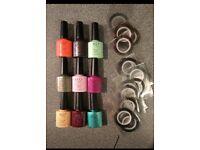 X9 Gel CCO nail polish bundle + 25 thin nail foil strips.