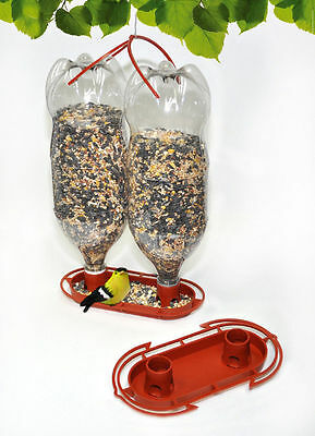 Gadjit Soda Bottle Jumbo Wild Bird Feeder Kits (Terra Cotta) Pack of 2