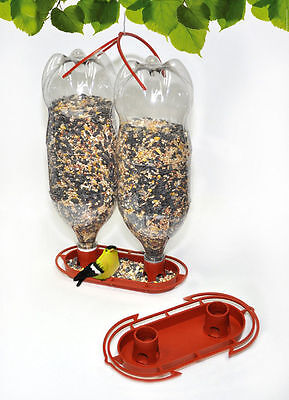 2 Gadjit Soda Bottle Jumbo Wild Bird Feeder Kits