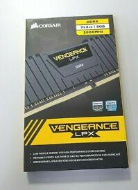Corsair 8GB (4GBx2) 3000 MHz PC4-24000 DDR4 Vengeance Memory CMK16GX4M2C3000C16