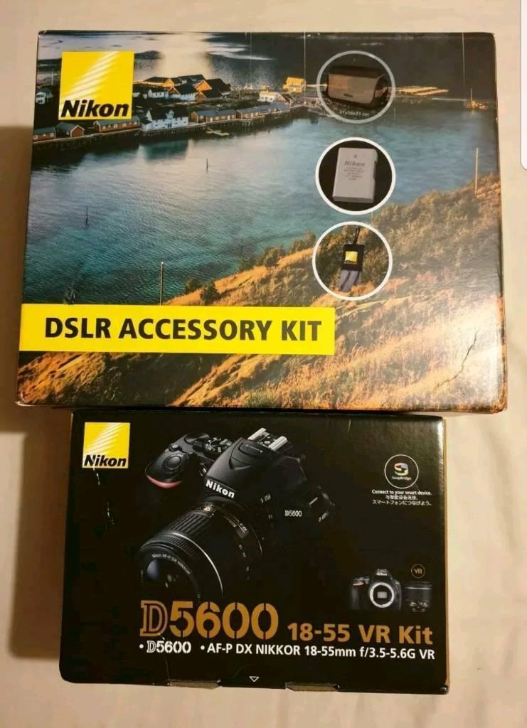 Nikon D5600 18-55 VR Kit with DSLR accessory kit | in