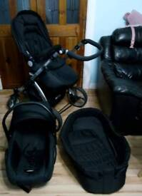 Carrera 3 in 1 Sport Little Devils travel system with extras
