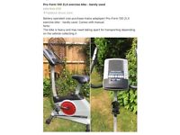 Pro-Form 100 ZLX excercise bike, barely used, battery operated but can purchase mains adapter.