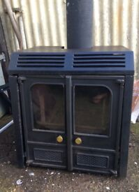 Charnwood Logburner with back boiler.