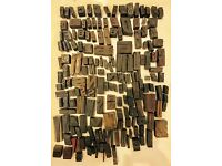 Letterpress wood type collection job lot