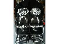 Double pram buggy pushchair, excellent condition