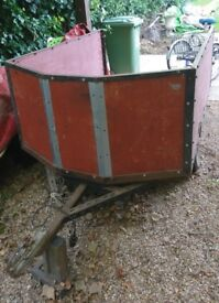 Trailer, good working order, with functioning connection for indicator/brake lights