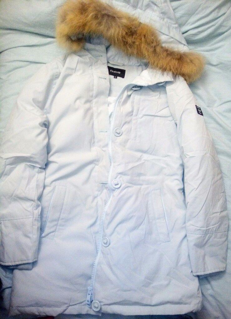 Pale blue down jacket parka ski warm size 14   in Bulwell ...