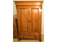 Lovely Victorian 19th Century Vintage / Antique Solid Pine Armoire Wardrobe