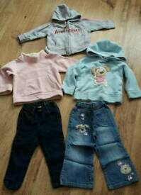 Next girls jeans & jumpers age 18-24 mths