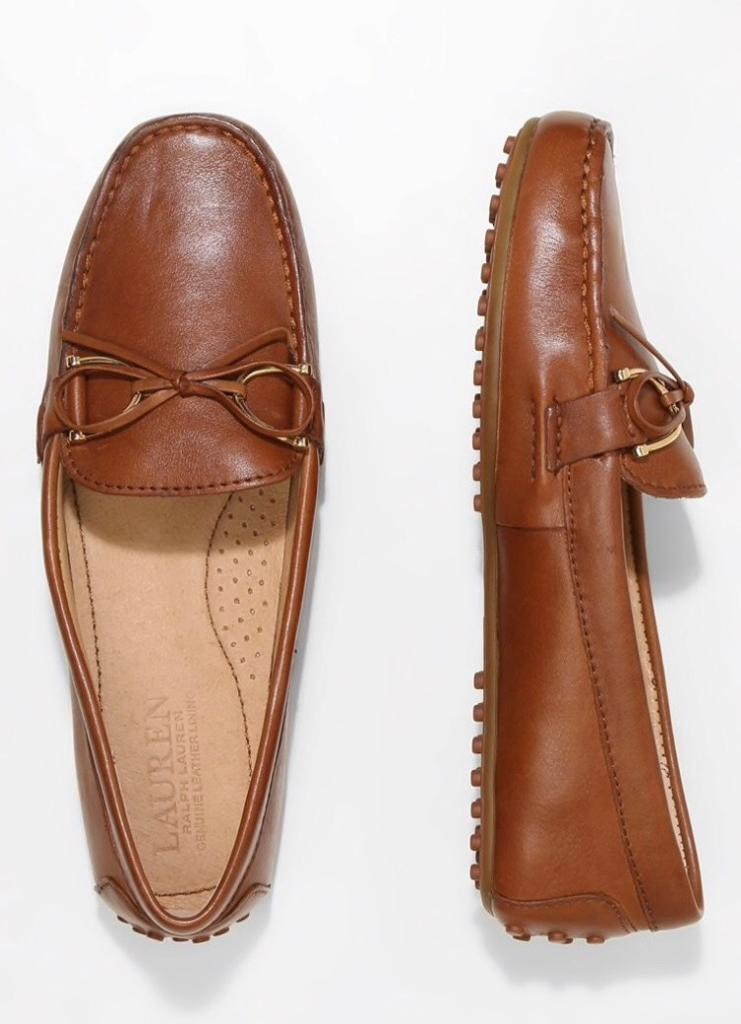 1bfb39a9caa Lauren Ralph Lauren Briley Tan Leather Driving Loafers