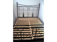Black metal king size bed,in great condition