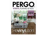 BRAND NEW 4 packs (8sq.m.) PERGO vinyl click system revinylution laminate floortiles