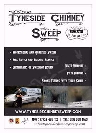 Chimney Sweep. Tyneside Chimney Sweep, fully qualified professional Chimney Sweep. Guild registered.