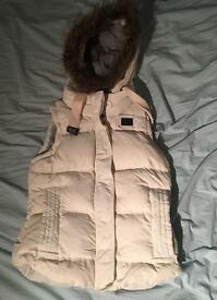 Women's Superdry, cream gillet