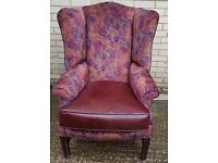 1 x Chesterfield Arm Chair, New Upholstery